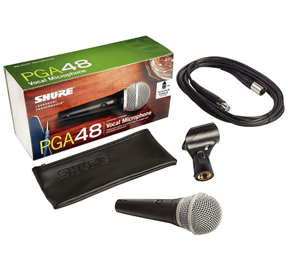 Shure PGA48-LC Cardioid Dynamic Vocal Microphone