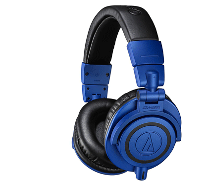 Audio Technica ATH-M50xBB Professional Monitor Headphones / Blue And Black.