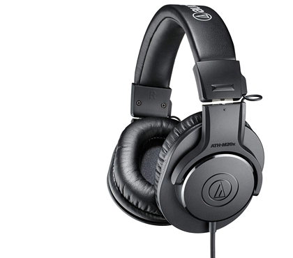 Audio-Technica ATH-M20x Over-Ear Professional Studio Monitor Headphones