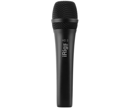 IK Multimedia iRig Mic HD 2 high-definition handheld digital microphone for iPhone, iPad, Mac and PC
