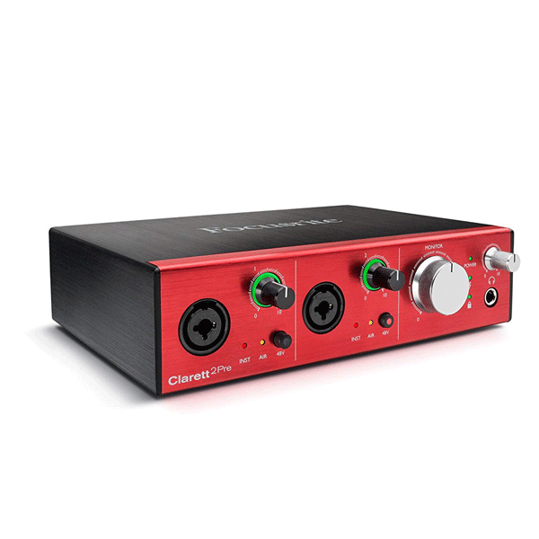 Focusrite Clarett 2Pre 10-In/4-Out Thunderbolt Interface with 2 Clarett Mic Preamps