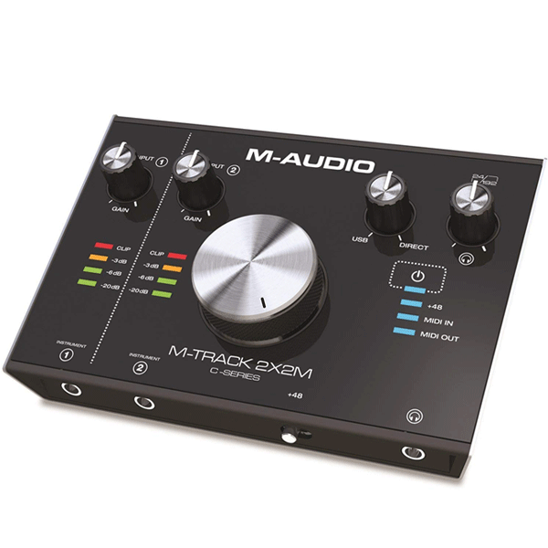 M-Audio M-Track 2X2M 24/192 MIDI Interface (Black)