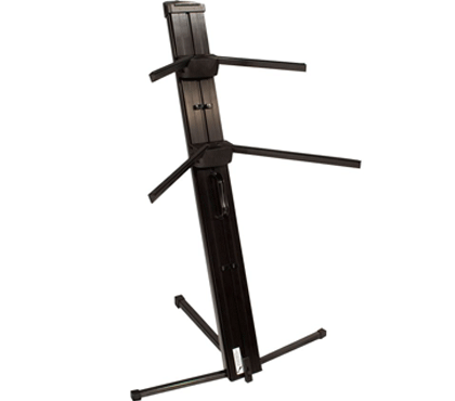 Ultimate Support AX-48 Pro Plus Two-tier Portable Column Keyboard Stand (Black)