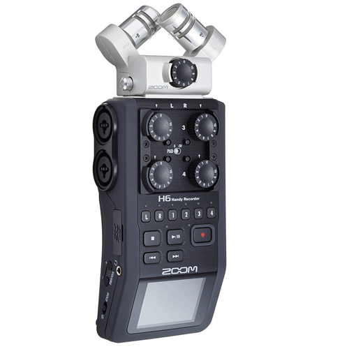 Zoom H6 6 Track Portable Digital Recorder