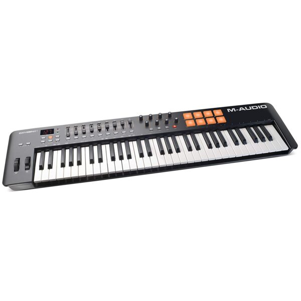 M-Audio Oxygen 61-Keys MIDI Keyboard with Eight Trigger Pads (Black)