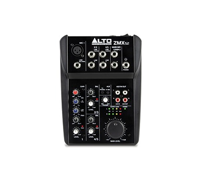 Alto Professional ZMX52 | 5-Channel 2-Bus Mixer with 6 Inputs, 3-Band EQ per Channel & +18V Phantom Power