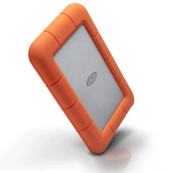 LaCie Rugged Mini 1TB External Hard Drive (Orange)