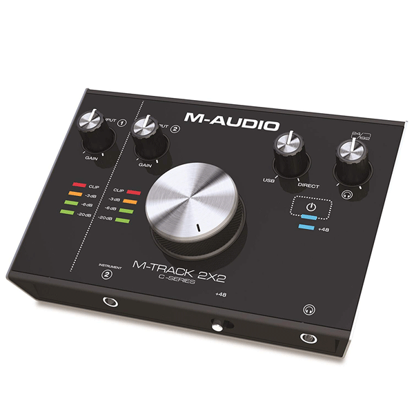 M-Audio M-Track 2 x 2 USB Audio Interface with Cubase and Plug-In Software (Black)