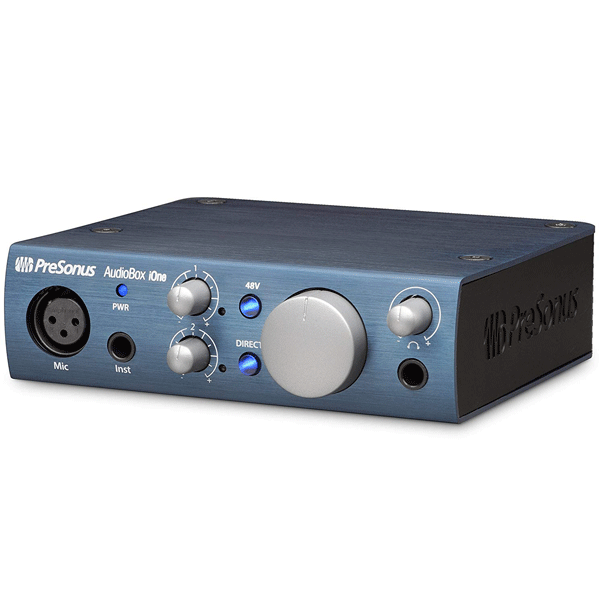PreSonus AudioBox iOne 2×2 USB iPad Recording System, Blue