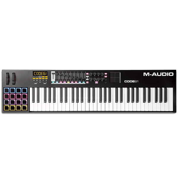 M-Audio Code 61-Keys MIDI Studio Controller Keyboard with Velocity Sensitive Keybed (Black)